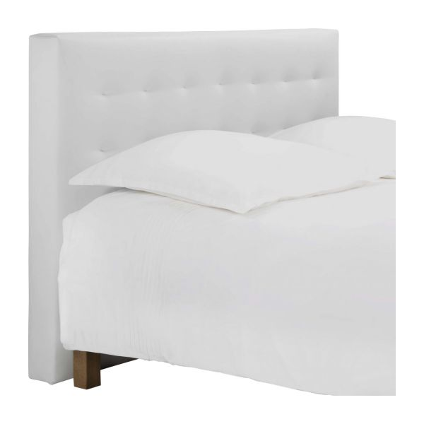 serengeti t te de lit pour sommier en 180 cm en simili cuir blanc habitat. Black Bedroom Furniture Sets. Home Design Ideas