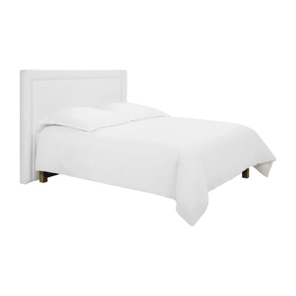 montana t te de lit pour sommier en 140 cm en simili cuir blanc habitat. Black Bedroom Furniture Sets. Home Design Ideas