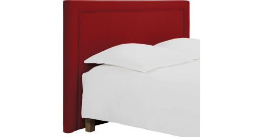 montana t te de lit pour sommier en 160 cm en feutrine rouge habitat. Black Bedroom Furniture Sets. Home Design Ideas
