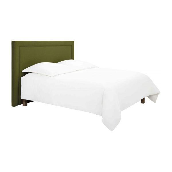 montana t te de lit pour sommier en 160 cm en feutrine vert chin habitat. Black Bedroom Furniture Sets. Home Design Ideas