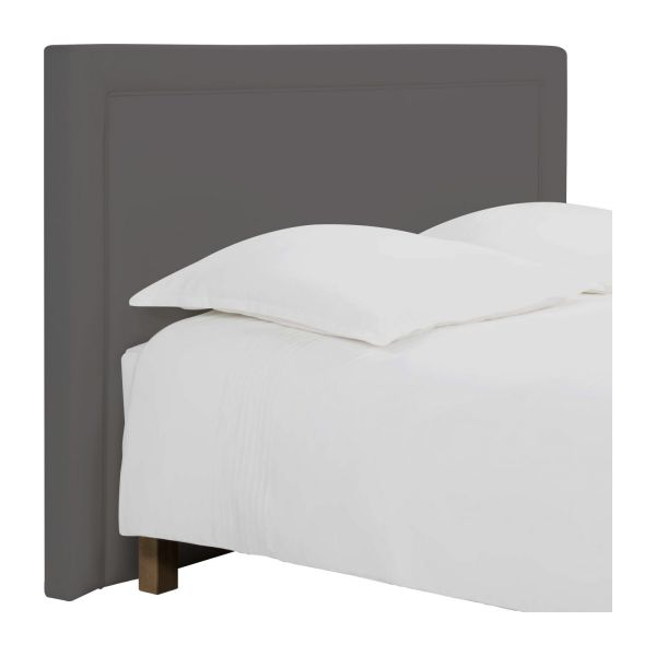 montana t te de lit pour sommier en 160 cm en tissu gris souris habitat. Black Bedroom Furniture Sets. Home Design Ideas