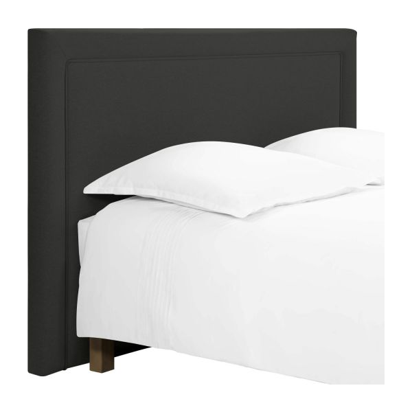 montana t te de lit pour sommier en 160 cm en tissu anthracite habitat. Black Bedroom Furniture Sets. Home Design Ideas