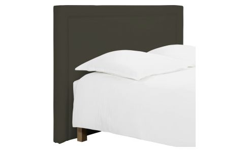 Headboard for 160cm box spring in imitation leather , brownish-grey