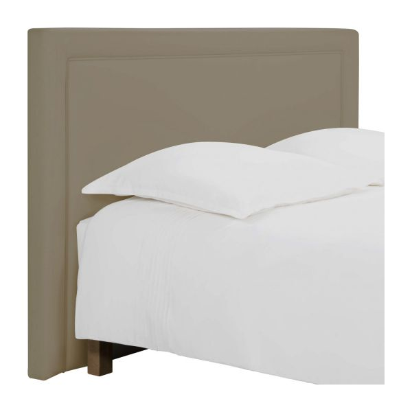 montana t te de lit pour sommier en 180 cm en tissu beige clair habitat. Black Bedroom Furniture Sets. Home Design Ideas