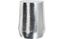Stool made of hammered aluminium