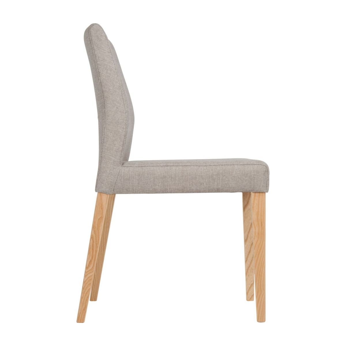 Chair made of fabric, beige with ash legs n°6