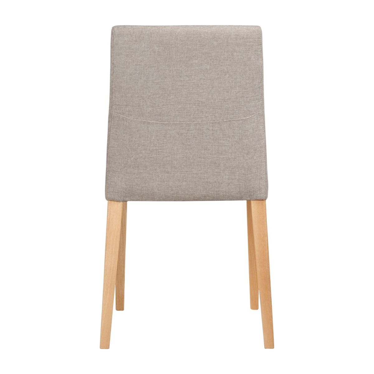 Chair made of fabric, beige with ash legs n°4