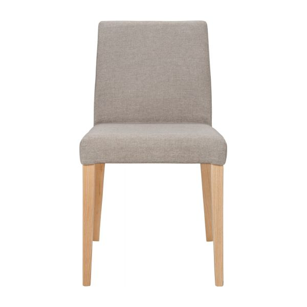 Chair made of fabric, beige with ash legs n°3