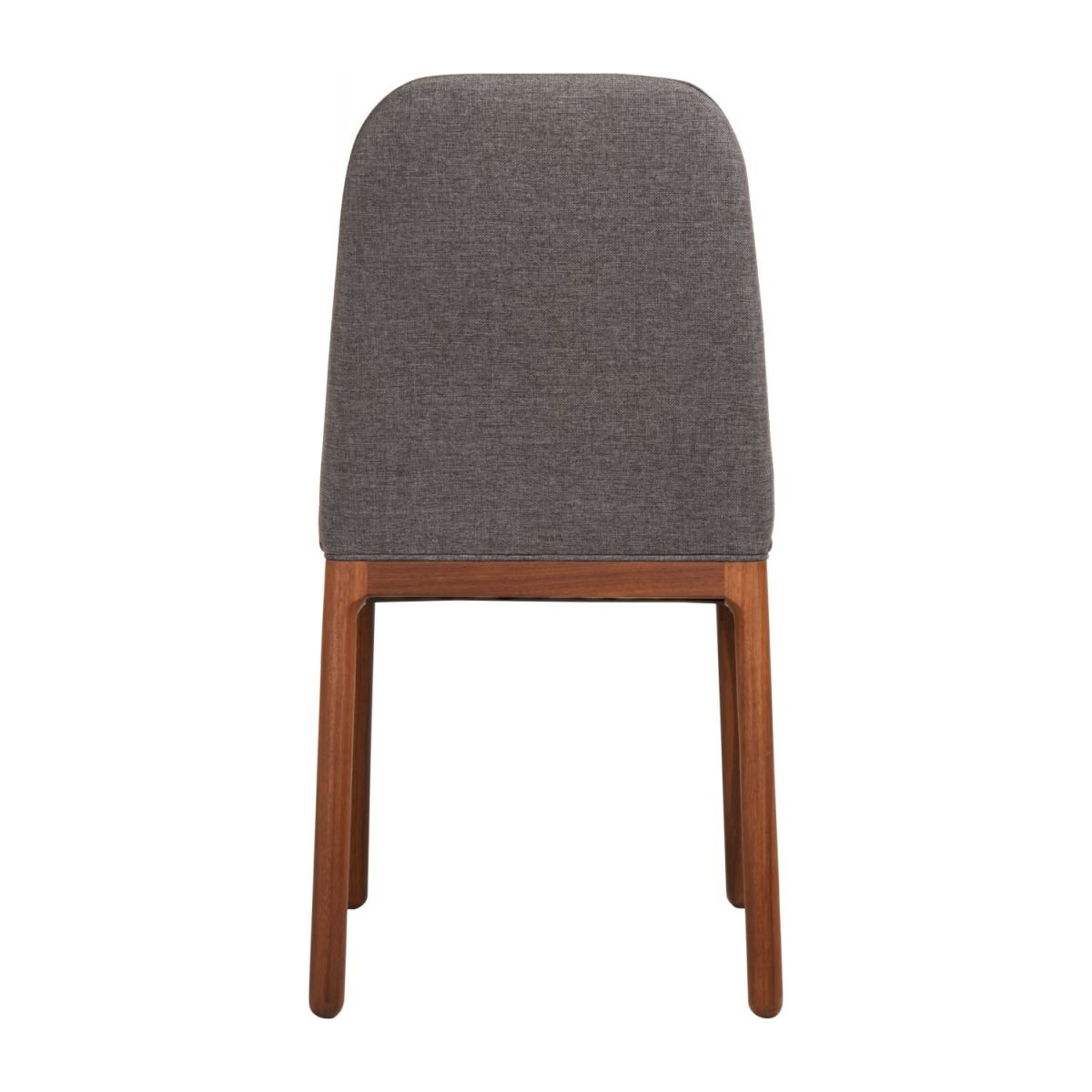 Chair made of fabric, grey with ash legs n°4