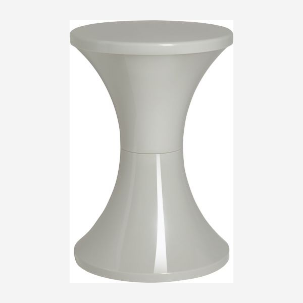 Stool made of plastic, grey