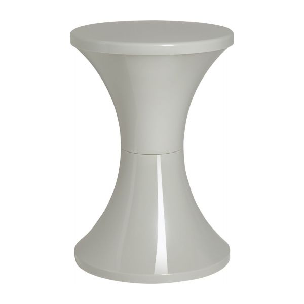 Stool made of plastic, grey n°1