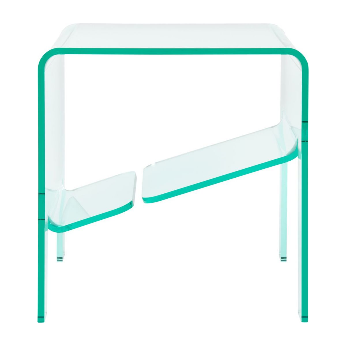Table d'appoint en acrylique transparente n°2