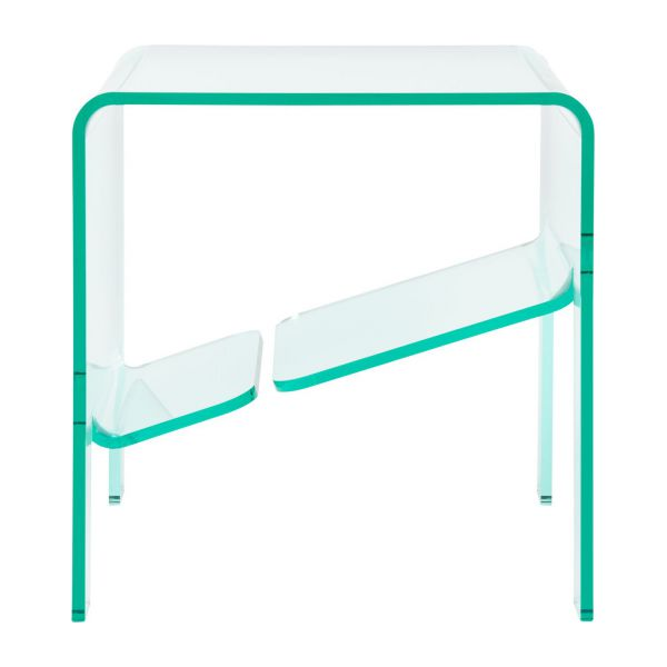 jasper table d 39 appoint en acrylique transparente habitat. Black Bedroom Furniture Sets. Home Design Ideas