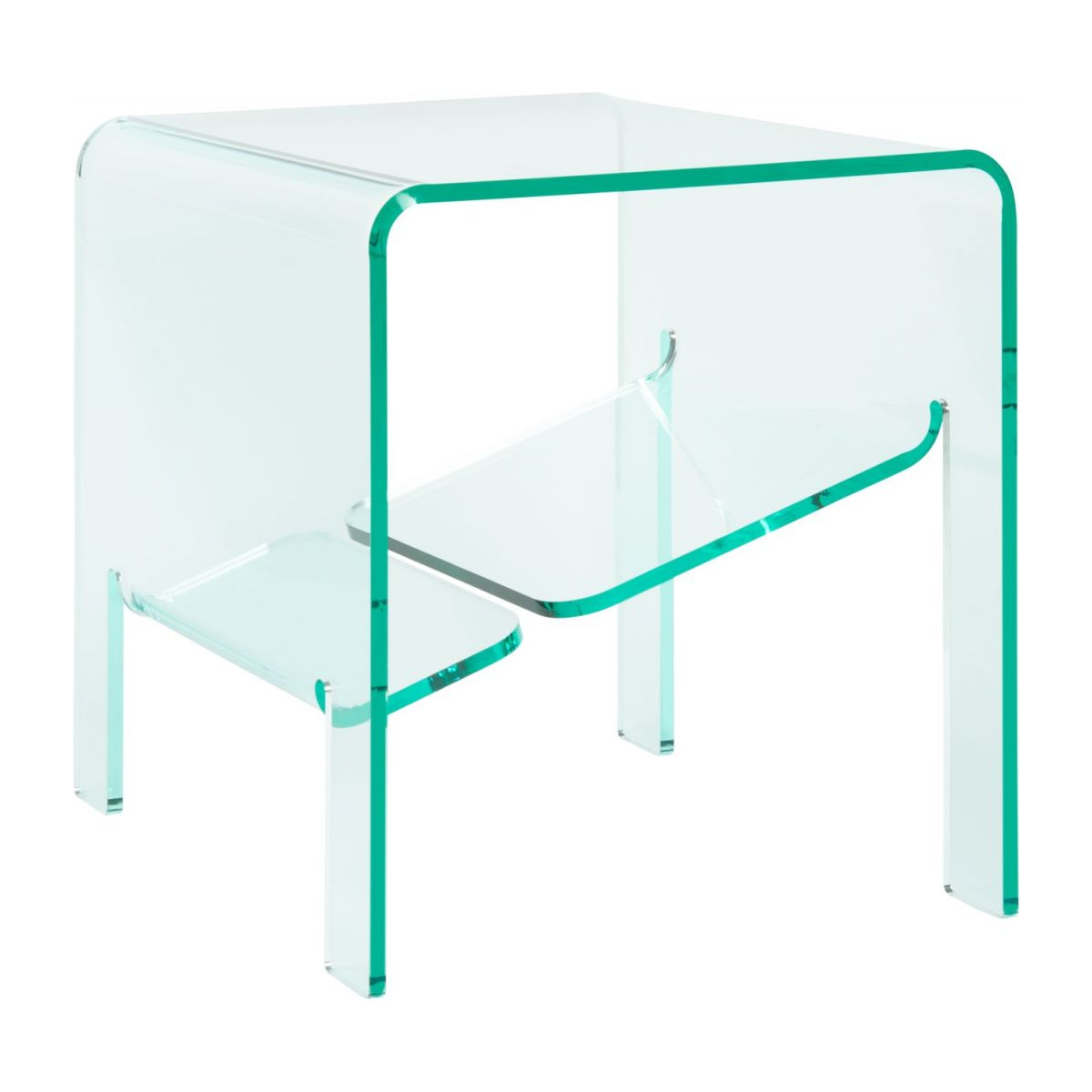 Table d'appoint en acrylique transparente n°1