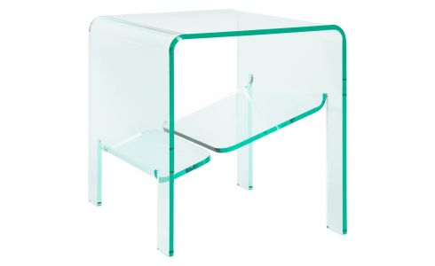 Table d'appoint en acrylique transparente