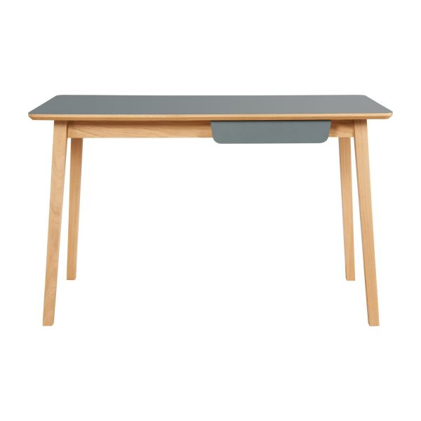 Desk made of oak, natural and grey n°3