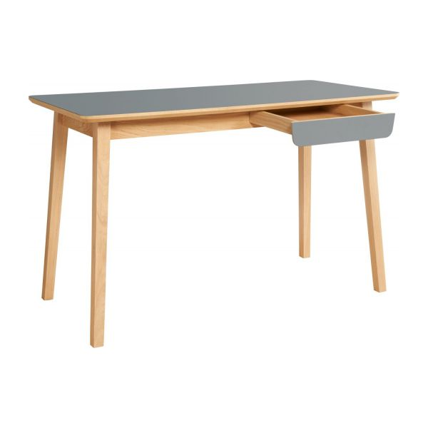 Desk made of oak, natural and grey n°2