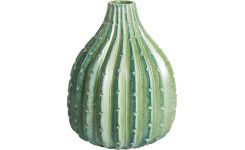 Cactus vase 20cm made of earthenware