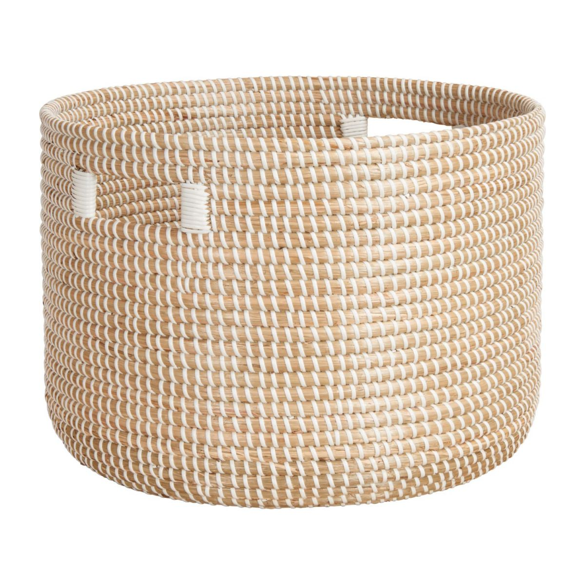 Basket 30cm with storage spaces made of seagrass n°1