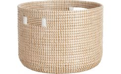 Basket 30cm with storage spaces made of seagrass