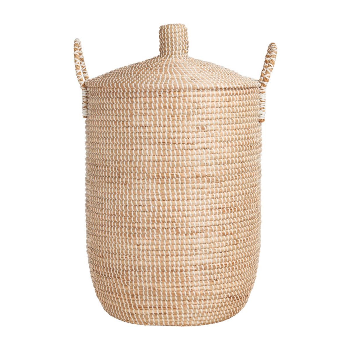 Basket 70cm with cover made of seagrass n°3