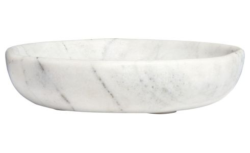Trinket bowl made of marble, white