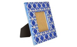 Photo frame made of earthenware 21x21cm, blue