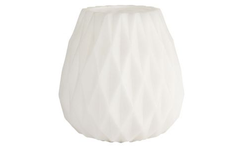 Candle holder origami, white