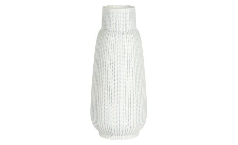 Vase made of ceramic 23cm,light blue