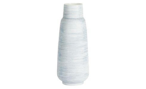 Vase made of ceramic 30cm,light blue