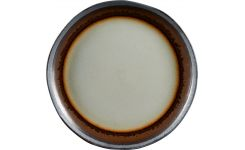 Flat plate made of sandstone 28cm, grey and brown