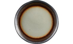 Dessert plate made of sandstone 22cm, grey and brown