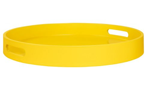 Tray laqué 45cm, yellow