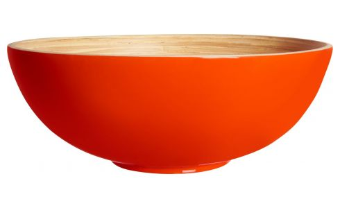 Bowl made of bamboo 20cm, red