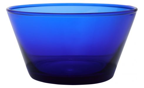 Bowl made of glass, Klein blue