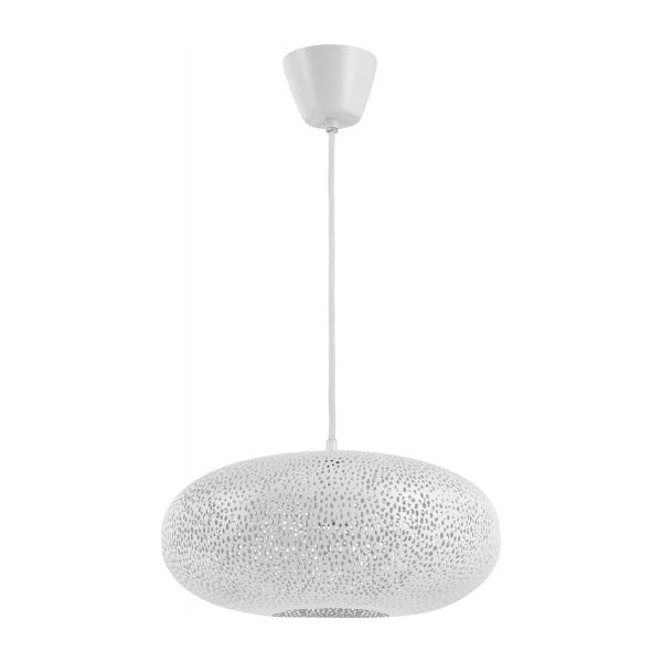 Ceiling lamp made of pierced metal n°1