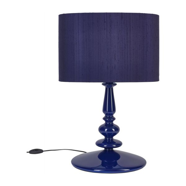 spindle pied de lampe bleu fonc habitat. Black Bedroom Furniture Sets. Home Design Ideas