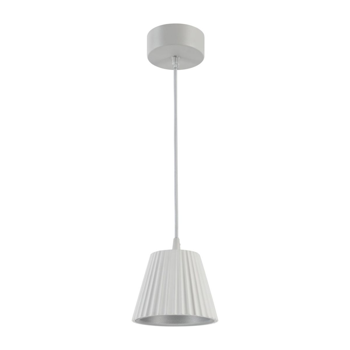 Led suspension made of gypsum, white