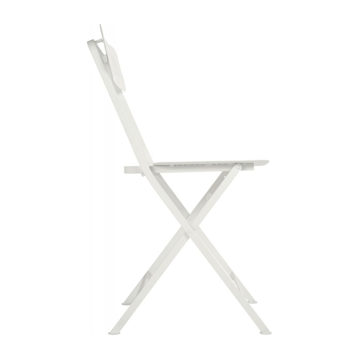 Folding chair made of metal, white n°5