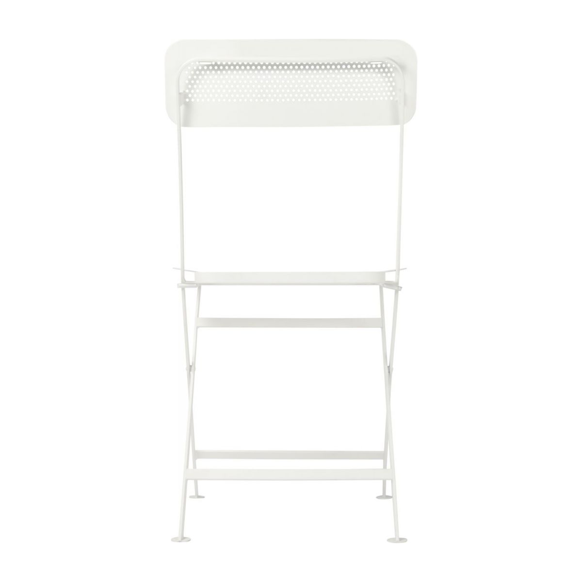 Folding chair made of metal, white n°4