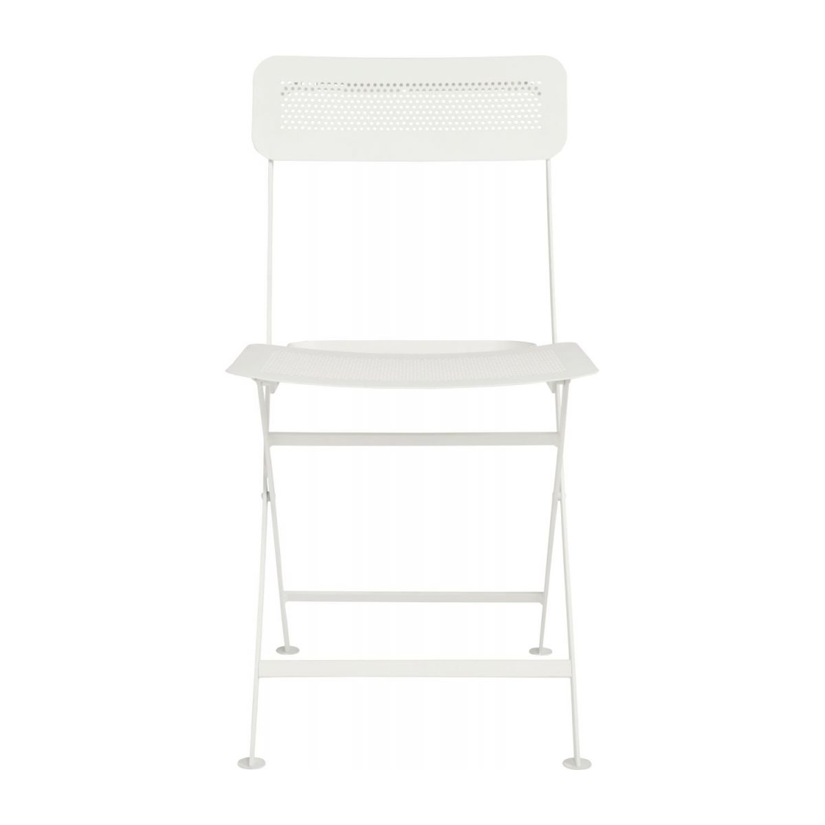 Folding chair made of metal, white n°3