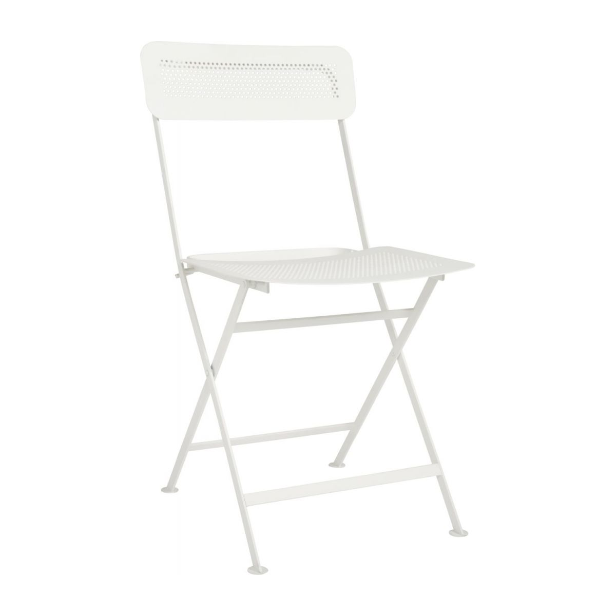 Folding chair made of metal, white n°1