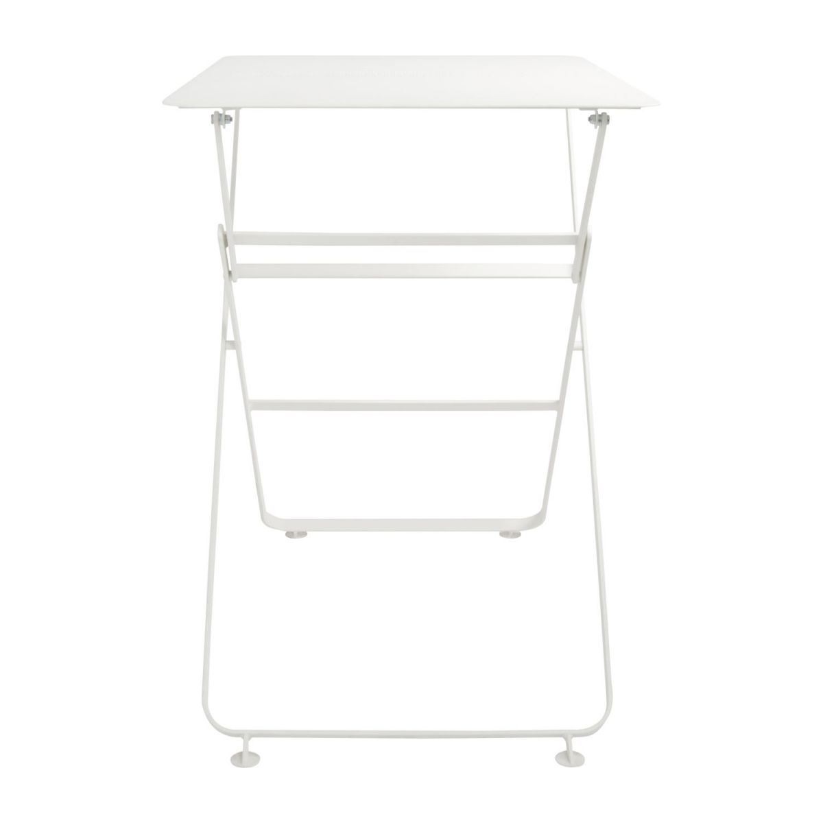 Folding table made of metal, white n°5