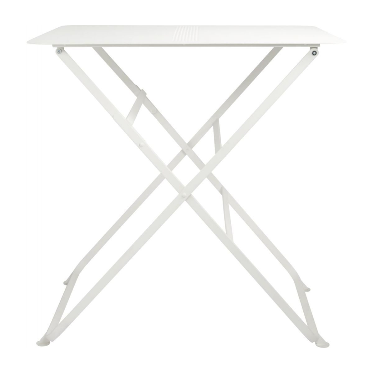Folding table made of metal, white n°3