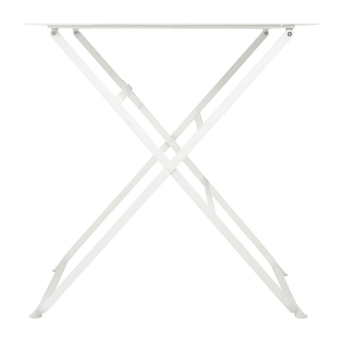 Folding table made of metal, white n°4