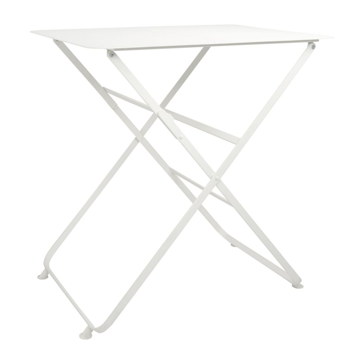Folding table made of metal, white n°1