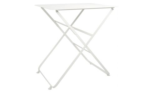 Mesa plegable de metal - Blanco
