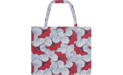 Beach bag with red flowers