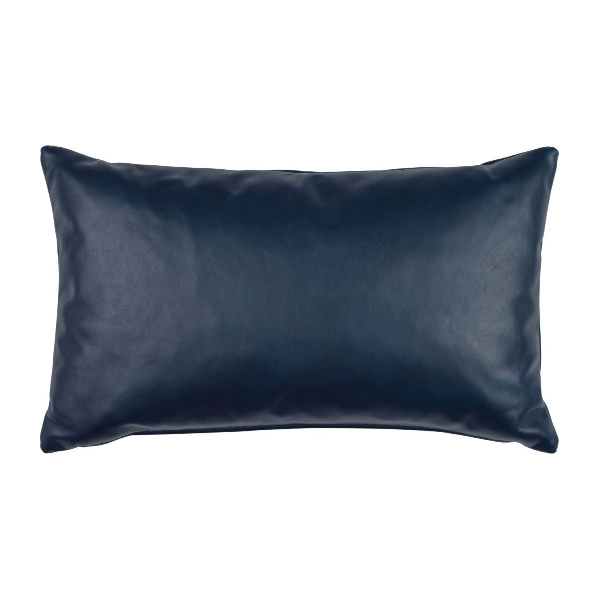 Cushion 30x50 made of aniline leather, blue n°1