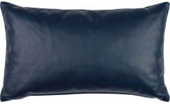 Cushion 30x50 made of aniline leather, blue
